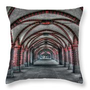 Tunnel With Arches Throw Pillow