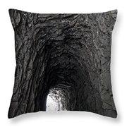 Tunneling Through Throw Pillow