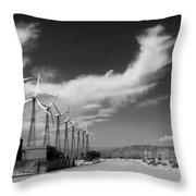 Turbine Town Palm Springs Throw Pillow