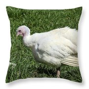 Turkey And The Chopping Block Throw Pillow