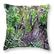 Turkey Flowers Throw Pillow
