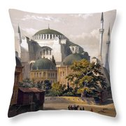 Turkey: Hagia Sophia, 1852 Throw Pillow
