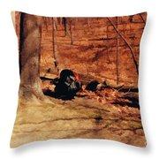 Turkey In The Wild Throw Pillow