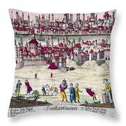 Turkey: Istanbul, C1820s Throw Pillow