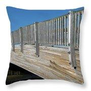 Turkey Point Bridge Throw Pillow