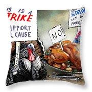 Turkey Strike Throw Pillow