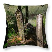 Turkish Cemetery In Rural Mugla Province Throw Pillow