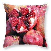 Turkish Pomegrants Throw Pillow