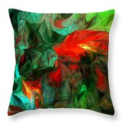 Turmoil  And Frustration Throw Pillow