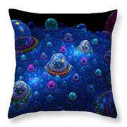 Turn Off The Bubble Machine Throw Pillow