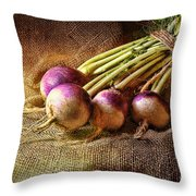Turnips Throw Pillow
