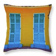 Turquoise And Yellow Throw Pillow