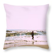 Turquoise Bathing Suit Throw Pillow