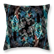 Turquoise Crystals Throw Pillow