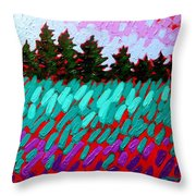 Turquoise Field Throw Pillow