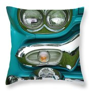 Turquoise Headlight Throw Pillow