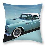 Turquoise T-bird Throw Pillow