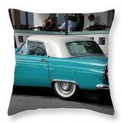 Turquoise Thunderbird Throw Pillow