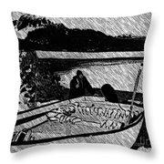 Turr Hunt Sketch Throw Pillow