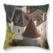 Turrets Schloss Goldrain Throw Pillow