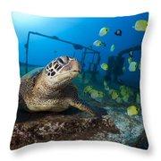 Turtle And Sealife Throw Pillow