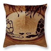 Turtles Love Digital Artwork Throw Pillow