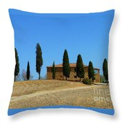 Tuscan House  I Cipressini/italy/europe  Throw Pillow
