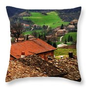 Tuscany Landscape 2 Throw Pillow