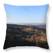 Tuscany Valleys At Sunset Throw Pillow