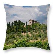 Tuscany Villa In Tuscany Italy Throw Pillow