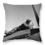 Tuskegee Airman, 1945 Throw Pillow