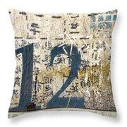 Twelve Left Throw Pillow by Carol Leigh