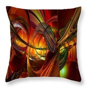 Twilight Abstract Fx  Throw Pillow