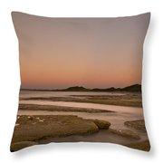 Twilight After A Sunset At A Beach Throw Pillow