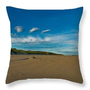Twilight During A Sunset At A Beach With Beautiful Clouds Throw Pillow