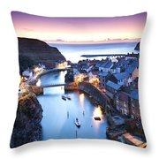 Twilight Glow Staithes Throw Pillow