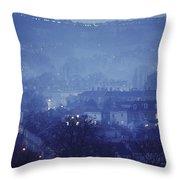 Twilight In Bath, England Throw Pillow