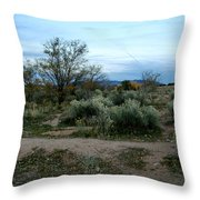 Twilight Near Santa Fe Throw Pillow