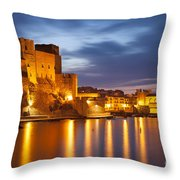 Twilight Over Collioure Throw Pillow