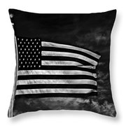Twilight's Last Gleaming Bw Throw Pillow by David Dehner