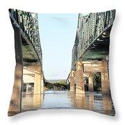 Twin Bridges Throw Pillow