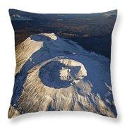 Twin Craters Atop Krasheninnikov Throw Pillow