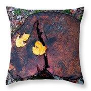 Twin Fallen Leaves Throw Pillow
