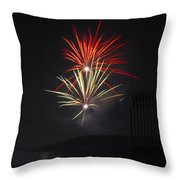 Twin Fireworks Throw Pillow