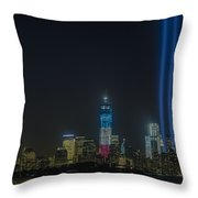 Twin Lights Throw Pillow