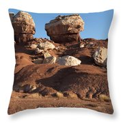 Twin Rocks Capitol Reef Np Throw Pillow
