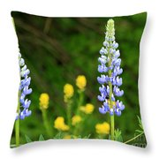 Twin Towers Of Flower Throw Pillow