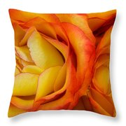 Twin Yellow Roses Throw Pillow