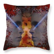 Twins One Look Throw Pillow