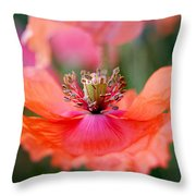 Twirling Floral Skirt Throw Pillow